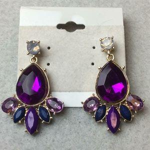 Jewelry - New Beautiful Purple Stud Earrings